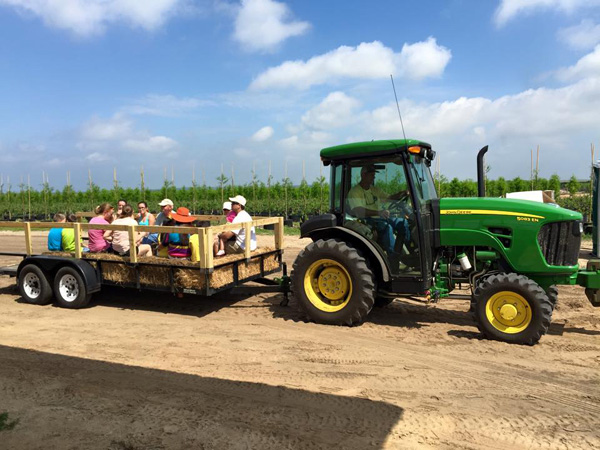 Farm wagon rides at Southern Hill Farms on the weekends
