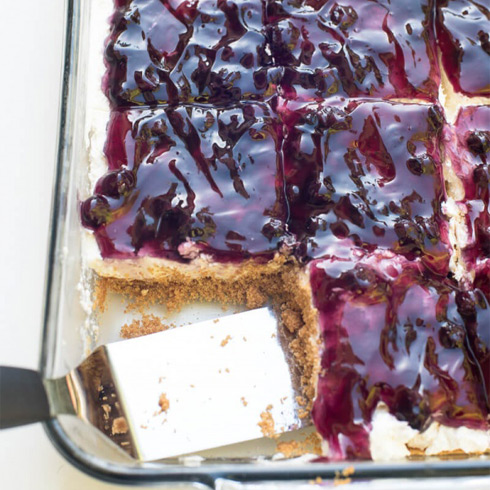 An easy recipe for Blueberry Cheesecake Bake.