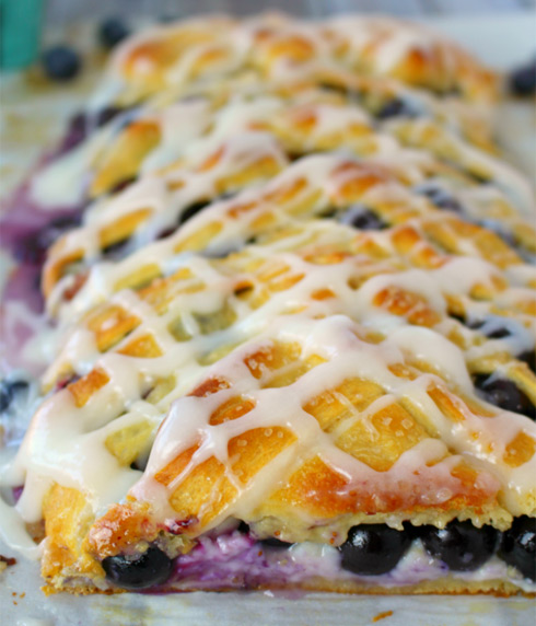 Blueberry Cream Cheese Breakfast Braid Recipe
